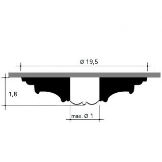 Rosette Stuck Orac Decor R12 LUXXUS Deckenrosette Decken Stuckrosette Blätter Dekor klassisch weiß | 20 cm Durchmesser - Vorschau 2