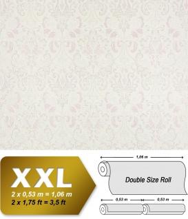 Vliestapete Barock-Tapete XXL EDEM 966-20 Muster Ornament klassisch weiß crème grau pastell violett | 10, 65 qm