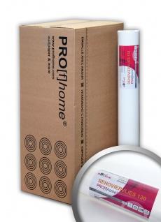 Profhome Renoviervlies 130 g Malervlies glattes Vlies rissüberbrückende Vliestapete weiß 168, 75 qm 1 Karton 9 Rollen
