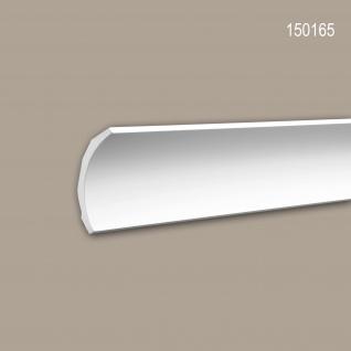 Eckleiste PROFHOME 150165 Zierleiste Stuckleiste Modernes Design weiß 2 m