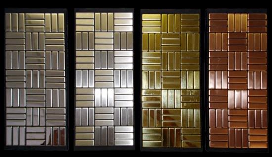 Mosaik Fliese massiv Metall Edelstahl hochglänzend in grau 1, 6mm stark ALLOY Basketweave-S-S-M 0, 82 m2 - Vorschau 5