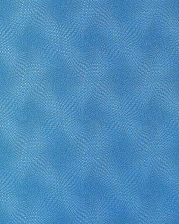 Grafik Tapete EDEM 064-22 70er Tapete abstrakte Muster Relief-Oberfläche 3D Grid-Optik Blau grau silber