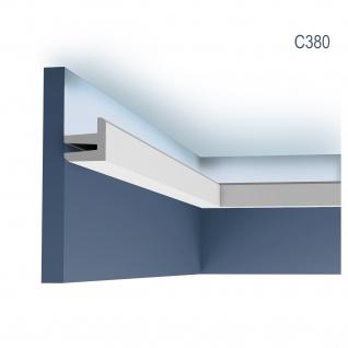 Eckleiste Orac Decor C380 MODERN L3 Indirekte Beleuchtung Zierleiste Modernes Design weiß 2m