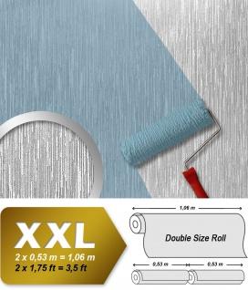 Struktur Vliestapete zum Überstreichen EDEM 373-60 XXL dekorative gestreifte Struktur Dekor-Tapete weiß | 26, 50 qm Grossrolle
