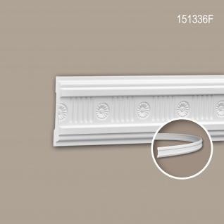 Wand- und Friesleiste PROFHOME 151336F Stuckleiste Flexible Leiste Zierleiste Neo-Klassizismus-Stil weiß 2 m