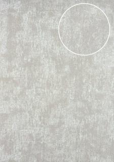 Ton-in-Ton Tapete ATLAS HER-5131-1 Vliestapete strukturiert im Shabby Chic Stil glänzend grau perl-weiß gold-braun 7, 035 m2