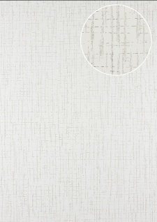 Grafik Tapete Atlas 24C-5057-1 Vliestapete strukturiert mit abstraktem Muster und Metallic Effekt weiß bronze 7, 035 m2