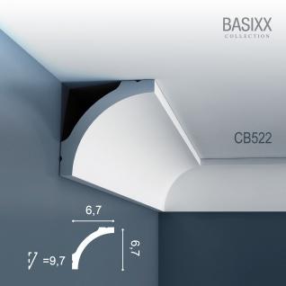 Eckleiste Stuck Orac Decor CB522 BASIXX Zierleiste Dekorprofil Stuck Dekor Wand Leiste Decken Leiste | 2 Meter