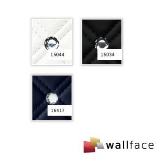 Wandpaneel Leder Design Glas Kristallen Dekor WallFace 15044 CRISTAL ROMBO Wandplatte selbstklebend weiß | 2, 60 qm - Vorschau 4