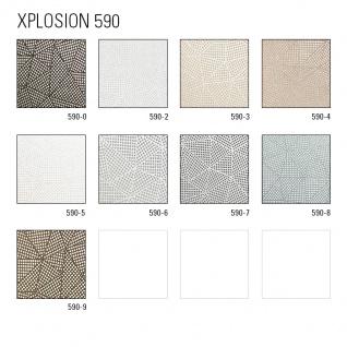 Grafik Tapete ATLAS XPL-590-0 Vliestapete strukturiert mit geometrischen Formen schimmernd anthrazit achat-grau grau silber-grau 5, 33 m2 - Vorschau 4