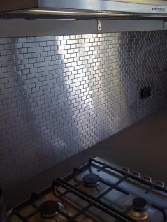 Mosaik Fliese massiv Metall Edelstahl marine gebürstet in grau 1, 6mm stark ALLOY House-S-S-MB 0, 98 m2 - Vorschau 5