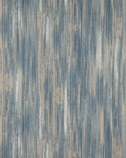 Streifen Tapete Profhome BV919089-DI heißgeprägte Vliestapete strukturiert mit abstraktem Muster matt beige grau-blau weiß 5, 33 m2