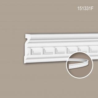 Wand- und Friesleiste PROFHOME 151331F Stuckleiste Flexible Leiste Zierleiste Neo-Klassizismus-Stil weiß 2 m