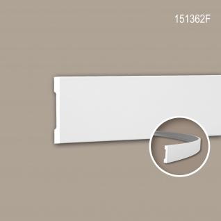 Wand- und Friesleiste PROFHOME 151362F Stuckleiste Flexible Leiste Zierleiste Modernes Design weiß 2 m