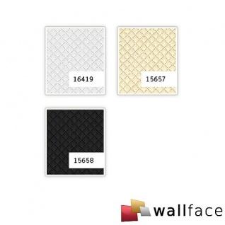 Wandpaneel Leder Design Karo Muster WallFace 16419 ROMBO Wandplatte Wandverkleidung selbstklebend weiß matt | 2, 60 qm - Vorschau 2