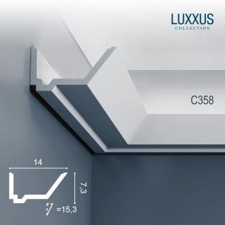 Stuck Zierleiste Orac Decor C358 LUXXUS Eckleiste für indirekte Beleuchtung gesims Deckenleiste | 2 Meter