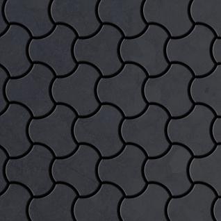 Mosaik Fliese massiv Metall Rohstahl gewalzt in grau 1, 6mm stark ALLOY Ubiquity-RS Designed by Karim Rashid 0, 75 m2