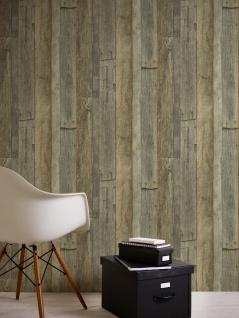 Holz Tapete Profhome 959313-GU Vliestapete glatt in Holzoptik matt grau weiß beige 5, 33 m2 - Vorschau 4