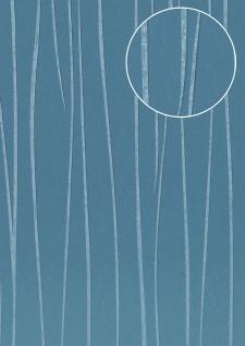 Streifen Tapete Atlas COL-570-3 Vliestapete glatt Design schimmernd blau azur-blau grau 5, 33 m2