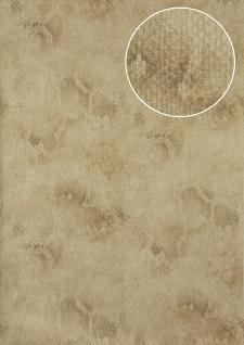 Tiermotiv Tapete Atlas STI-5100-2 Vliestapete geprägt mit Schlangenmuster schimmernd beige elfenbein grau-beige 7, 035 m2 - Vorschau 1