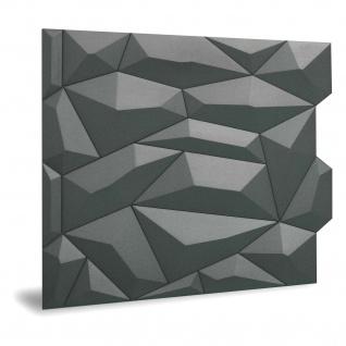 Wandpaneel 3D Profhome 3D 705475 Glacier Smoked Gray Dekorpaneel glatt mit abstraktem Muster matt grau 2 m2