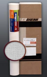 EDEM 80301BR60 Vliestapete überstreichbar dekorative Textil Struktur grobe Leinenstoff Optik weiß 1 Kart. 4 Rollen 106 qm