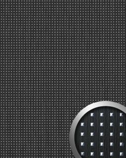 Wandpaneel Quadrat Dekor Holz Design WallFace 12549 3D QUAD Wandplatte selbstklebend schwarz silber | 2, 60 qm