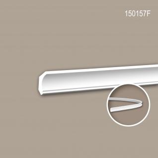Eckleiste PROFHOME 150157F Zierleiste Flexible Leiste Stuckleiste Neo-Klassizismus-Stil weiß 2 m
