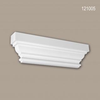 Pilaster Kapitell PROFHOME 121005 Zierelement Dorischer Stil weiß