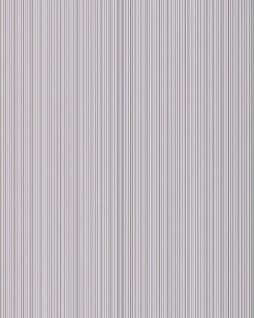 Uni-Tapete EDEM 598-20 Geprägte Tapete strukturiert mit Streifen und metallischen Akzenten hell-grau silber 5, 33 m2