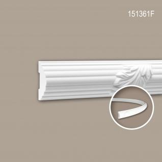 Wand- und Friesleiste PROFHOME 151361F Stuckleiste Flexible Leiste Zierleiste Zeitloses Klassisches Design weiß 2 m