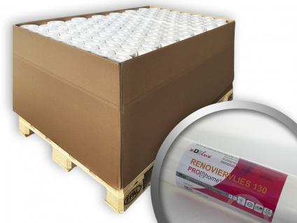 Renoviervlies PROFHOME 130 g Malervlies Anstrichvlies glattes Vlies zum Überstreichen weiß | 1 Pal. 1800 qm 96 Rollen