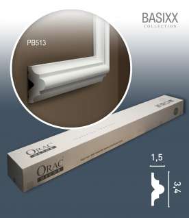 Orac Decor PB513 BASIXX 1 Karton SET mit 10 Stuckleisten Wandleisten | 20 m