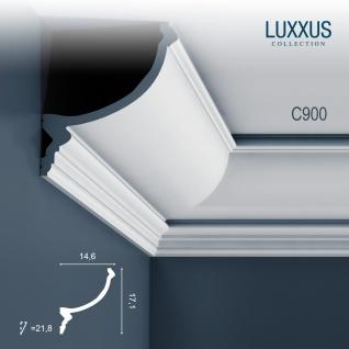Stuck Zierleiste Orac Decor C900 LUXXUS Eckleiste für indirekte Beleuchtung Eckleiste Gesims | 2 Meter