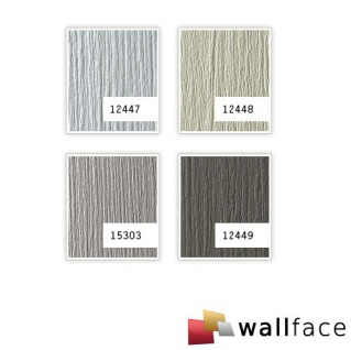 Wandpaneel Metall-Dekor matt Struktur WallFace 12447 DECO SILVER Wandverkleidung selbstklebend hell grau   2, 60 qm - Vorschau 2