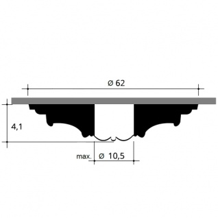 Zierrosette Stuck Orac Decor R76 LUXXUS Rosette Stuckrosette Decken Lampen Polyurethan | 62 cm Durchmesser - Vorschau 2