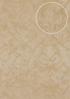 Grafik Tapete Atlas SIG-580-3 Vliestapete strukturiert mit abstraktem Muster schimmernd beige hell-elfenbein grau-beige 5, 33 m2