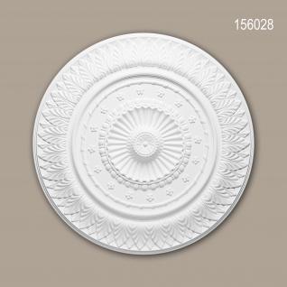 Rosette PROFHOME 156028 Zierelement Deckenelement Neo-Klassizismus-Stil weiß Ø 67, 0 cm