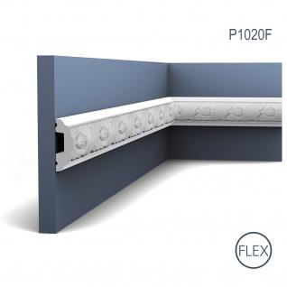 Stuck Wandleiste Orac Decor P1020F LUXXUS flexible Friesleiste Stuckleiste Dekor Profil Zierleiste mit Relief 2 Meter