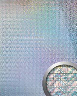 Wandpaneel Wandverkleidung WallFace 10575 M-Style Design Metall Mosaik Dekor selbstklebend silber galaxy glanz   0, 96 qm