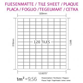 Mosaik Fliese massiv Metall Edelstahl marine gebürstet in grau 1, 6mm stark ALLOY Bauhaus-S-S-MB 1, 05 m2 - Vorschau 5