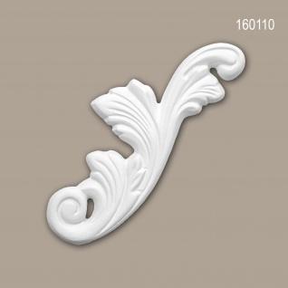 Zierelement PROFHOME 160110 Rokoko Barock Stil weiß