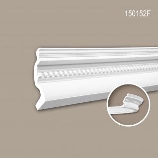 Eckleiste PROFHOME 150152F Zierleiste Flexible Leiste Stuckleiste Neo-Klassizismus-Stil weiß 2 m