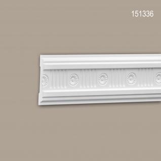 Wand- und Friesleiste PROFHOME 151336 Stuckleiste Zierleiste Wandleiste Neo-Klassizismus-Stil weiß 2 m