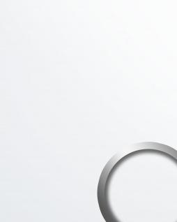 Wandpaneel Kunststoff Optik WallFace 19521 Magic White Dekorpaneel glatt unifarben matt selbstklebend abriebfest weiß 2, 6 m2