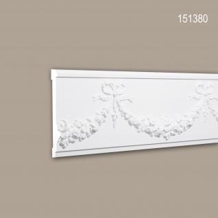 Wand- und Friesleiste PROFHOME 151380 Stuckleiste Zierleiste Friesleiste Neo-Empire-Stil weiß 2 m