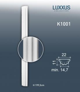 Stuck Halbsäule Orac Decor K1001 LUXXUS Säulenschaft Reliefform Material Hartschaum leicht und stoßfest   2, 00 Meter
