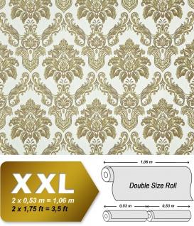 Barock Tapete XXL Vliestapete 3D EDEM 655-95 Damast Muster Textil-Optik Barocktapete grün gold creme hellbraun 10, 65 m2 - Vorschau 1