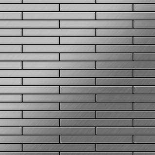 Mosaik Fliese massiv Metall Edelstahl gebürstet in grau 1, 6mm stark ALLOY Deedee-S-S-B 0, 78 m2