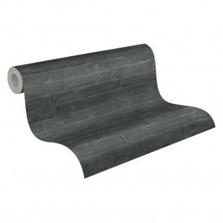 Stein Kacheln Tapete Profhome 377475-GU Vliestapete glatt in Steinoptik matt grau schwarz anthrazit 5, 33 m2 - Vorschau 2